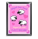 Girl Personalized Counting Sheep Room Sign