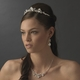 Glamorous Silver Clear Crystal Tiara Headpiece