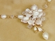 Gold Freshwater Pearl Bridal Jewelry Set