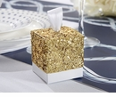 Gold Glitter Favor Box (Quanity of 24)