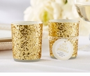 Gold Glitter Votive Tealight Holder (Quanity of 4)
