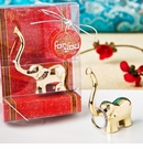 Gold Good Luck Elephant Ring Holder