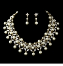Gold Ivory Necklace Earring Set