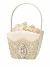 Gold Lace Flower Basket
