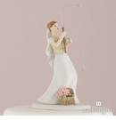 Gone Fishing Bride Cake Topper