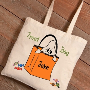 Halloween Ghost Trick-or-Treat Canvas Bag