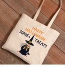 Halloween Witches Cat Trick-or-Treat Canvas Bag