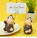 Hand Painted Ceramic Monkey Placecard Photo Holder