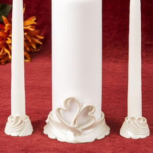 Heart Themed Unity Candle Set