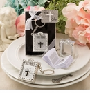 Holy Bible Silver Keychain