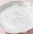 I Thee Wed Personalized Porcelain Ring Bowl