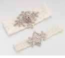 Jeweled Garter Set -Ivory