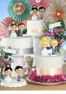 Kokeshi Bride & Groom Cake Top