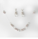 Lavender Clear Necklace Earring Set