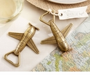 """Let the Adventure Begin"" Airplane Bottle Opener"