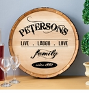 Live Laugh Love Wine Barrel Sign