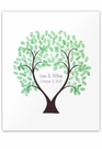 "Love Thumbprint Tree Unframed 16"" x 20"""