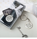 Love You To The Moon and Back Silver Keychain Favor