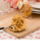 Matte Gold Rose Compact Mirror