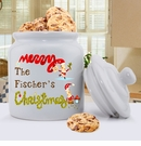 Merry Christmas Elves Holiday Cookie Jar