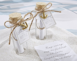 Message in a Bottle Glass Favor Bottle (Set of 12)
