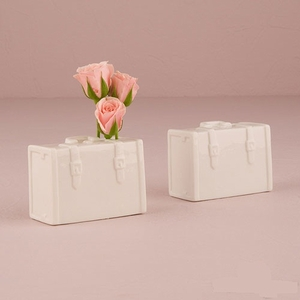 Miniature Porcelain Luggage Vase (Package of 6)
