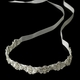 Modern Vintage Crystal Bridal Ribbon Headband