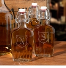 Monogram Clear Glass Flask 8.5 oz