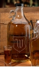Monogram Clear Glass Growler 64 oz