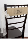 Mr. and Mrs.Burlap Chair Sashes