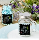 Mr & Mrs Design Glass Mason Jar