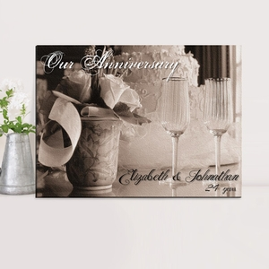 Our Anniversary Personalized Couples Canvas Print