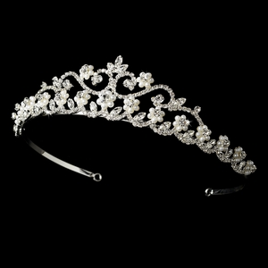 Pearl and Rhinestone Bridal Tiara