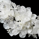 Pearl & Rhinestone Accent Lace Floral Hair Clip