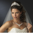 Pearl & Swarovski Crystal Bridal Necklace Earring & Tiara Set