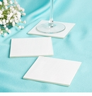 Perfectly Plain Milky White Glass Coasters