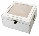 Personalized Antique White Card Box