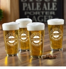 Personalized Beer Master Pub Glass Set