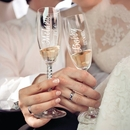 Personalized Bride & Groom Toasting Flutes