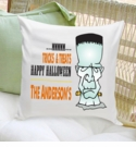 Personalized Frankenstein Halloween Throw Pillow