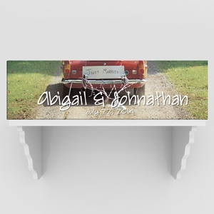 Personalized Full Color Just Married Canvas Print
