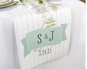 Personalized Rustic Table Runner