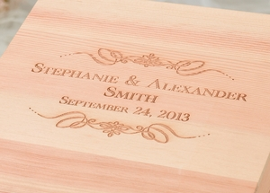 Personalized Scroll Wooden Card Box