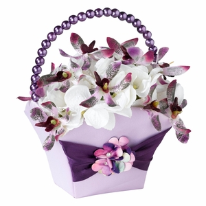 Radiant Purple Flower Girl Basket