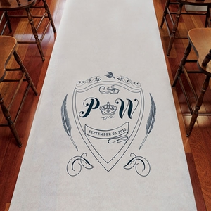 Regal Personalized Wedding Runner