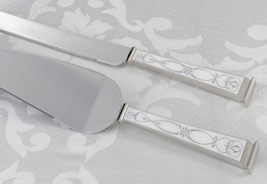 Retro Wedding Knife & Server Set