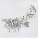 Rhodium Silver Freshwater Pearl Comb