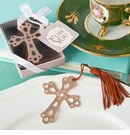 Rose Gold Metal Cross Bookmark