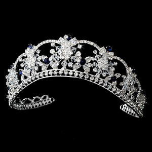 Royal Blue Accented Bridal Tiara