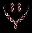 Ruby Red Crystals and Clear Rhinestones Set